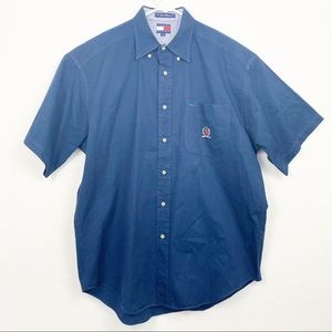 Tommy Hilfiger Short Sleeve Button Down Shirt L